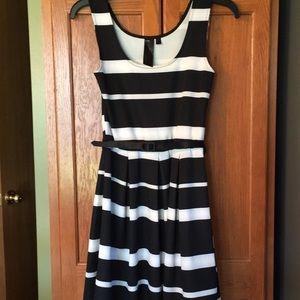 Trixxi black and white dress
